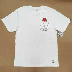 Vans X Marvel Spiderman White SS T-Shirt Youth NWT